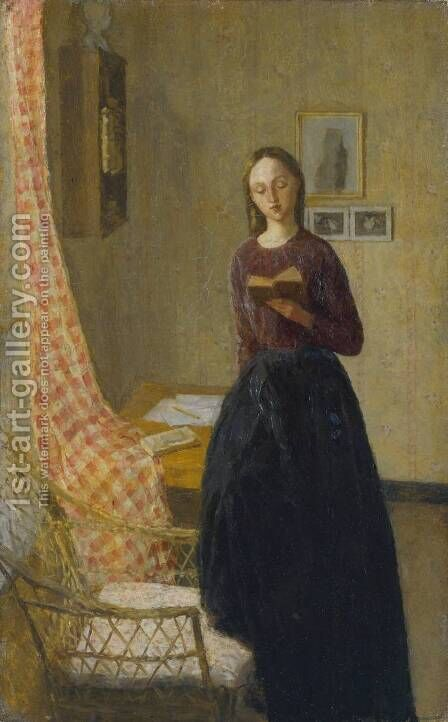 A Lady Reading by Gwen John - Reproduction Oil Painting