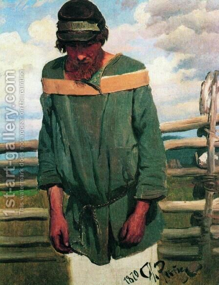Burlak by Ilya Efimovich Efimovich Repin - Reproduction Oil Painting