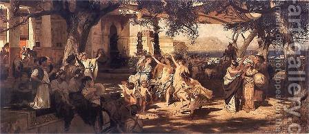 The Judgement of Paris by Henryk Hector Siemiradzki - Reproduction Oil Painting