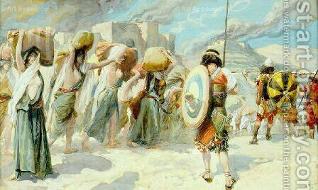 The Women of Midian Led Captive by the Hebrews by James Jacques Joseph Tissot - Reproduction Oil Painting