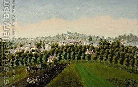 View of Bottom and Meudon Billancourt by Henri Julien Rousseau - Reproduction Oil Painting