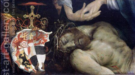 Lamentation of Christ (detail) by Matthias Grunewald (Mathis Gothardt) - Reproduction Oil Painting