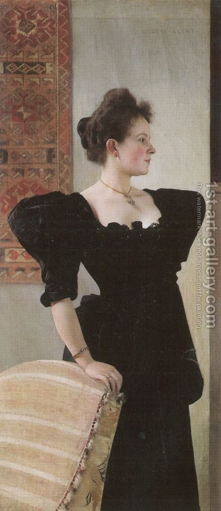 Portrait of Marie Breunig by Gustav Klimt - Reproduction Oil Painting
