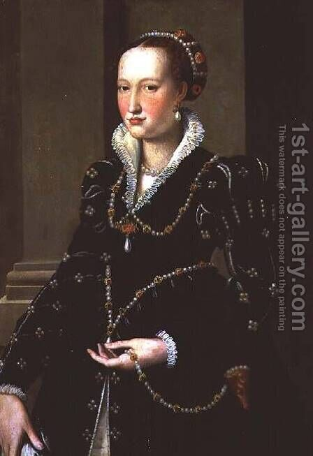 Portrait of Laudomia de' Medici by Agnolo Bronzino - Reproduction Oil Painting