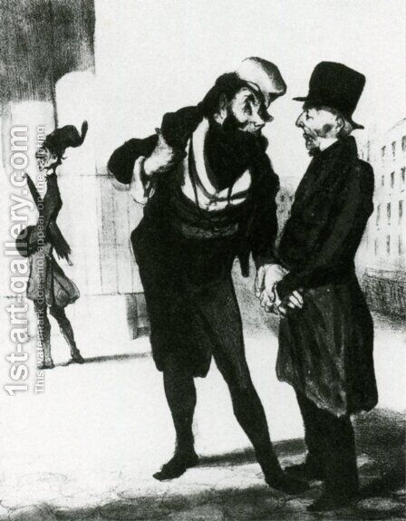 Robert Macaire Business Men by Honoré Daumier - Reproduction Oil Painting
