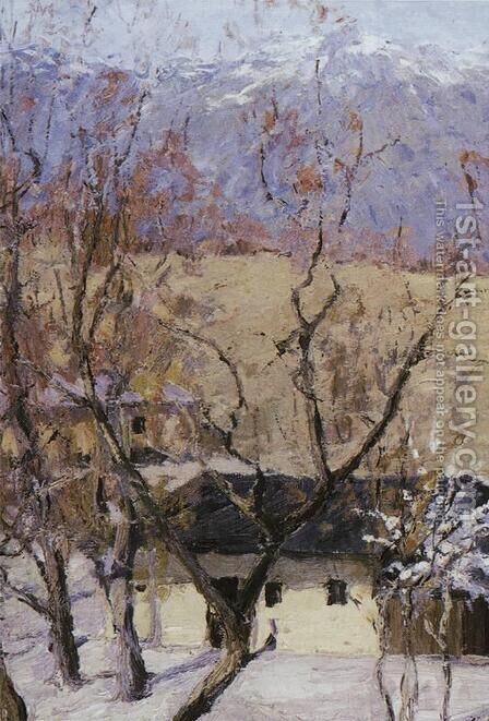 Crimea in winter by Isaak Ilyich Levitan - Reproduction Oil Painting