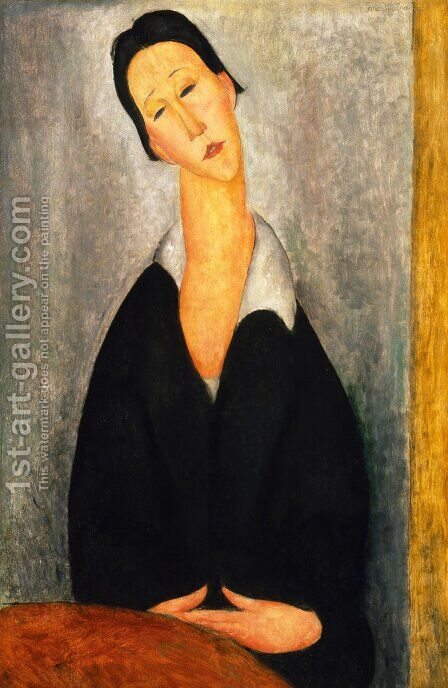 Portrait of a Polish Woman by Amedeo Modigliani - Reproduction Oil Painting