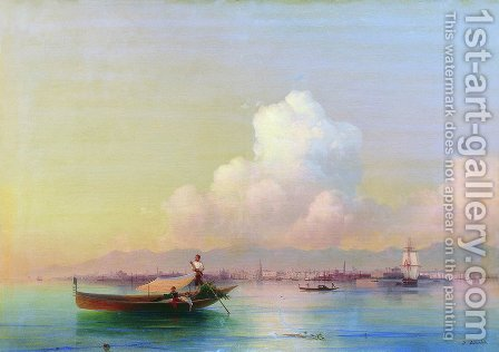 View of Venice from Lido by Ivan Konstantinovich Aivazovsky - Reproduction Oil Painting