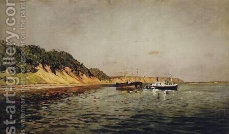 Volga. A Calm Day by Isaak Ilyich Levitan - Reproduction Oil Painting