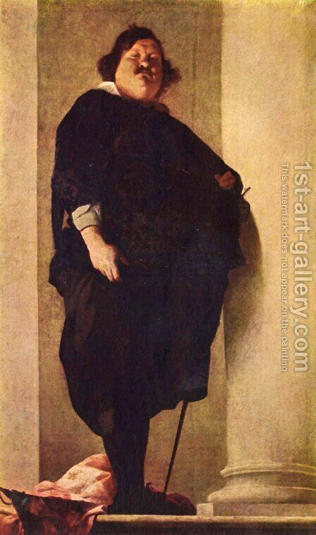 Portrait of a fat gentleman by Bernardo Strozzi - Reproduction Oil Painting