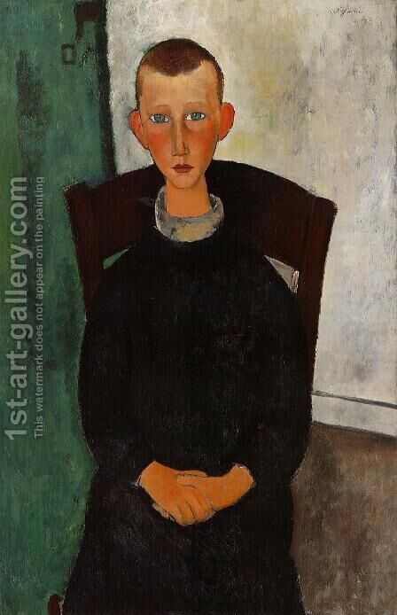The Caretaker's Son by Amedeo Modigliani - Reproduction Oil Painting