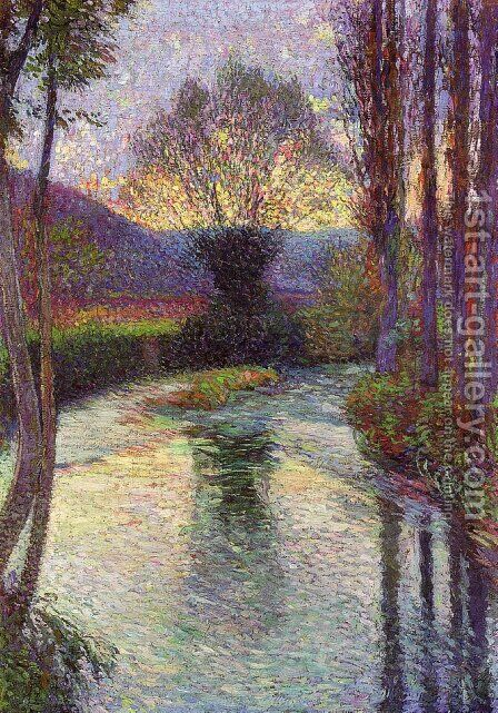 Reflected Willow on the Green by Henri Martin - Reproduction Oil Painting