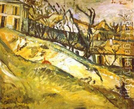 Landscape by Chaim Soutine - Reproduction Oil Painting