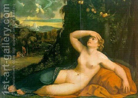 Venus Awakened by Cupid by Dosso Dossi (Giovanni di Niccolo Luteri) - Reproduction Oil Painting