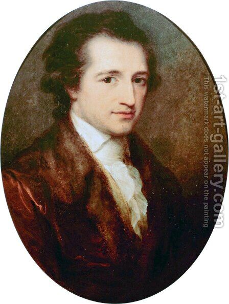 Johann Wolfgang von Goethe 2 by Angelica Kauffmann - Reproduction Oil Painting
