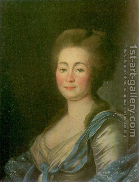 Anna Dorothea Louise Schmidt, nee. Baroness Klossen by Dmitry Levitsky - Reproduction Oil Painting