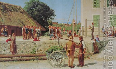 Turnstunde in Ins by Albert Anker - Reproduction Oil Painting