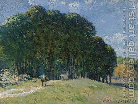 Rider at the Edge of the Forest by Alfred Sisley - Reproduction Oil Painting