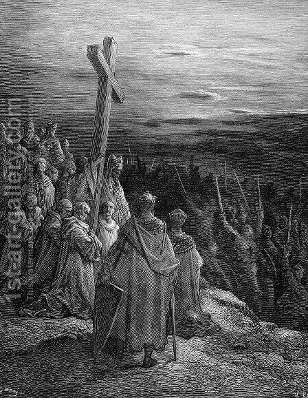 The True Cross by Gustave Dore - Reproduction Oil Painting