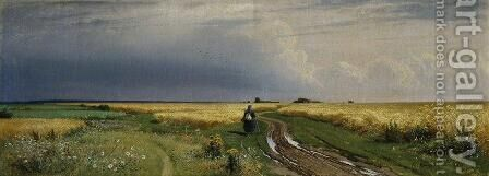 The road in the Rye by Ivan Shishkin - Reproduction Oil Painting