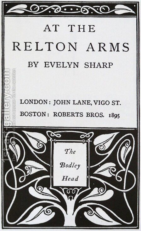 At The Relton Arms by Aubrey Vincent Beardsley - Reproduction Oil Painting