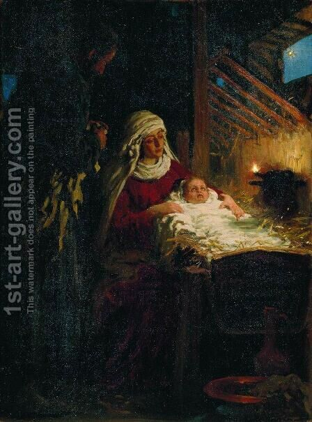 Nativity by Ilya Efimovich Efimovich Repin - Reproduction Oil Painting