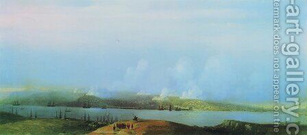 Siege of Sevastopol by Ivan Konstantinovich Aivazovsky - Reproduction Oil Painting