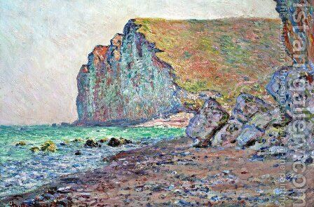 Cliffs of Les Petites-Dalles 2 by Claude Oscar Monet - Reproduction Oil Painting