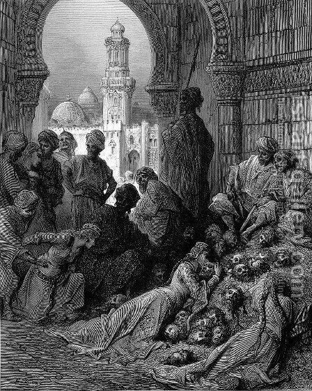 The Cruelties of Bibars by Gustave Dore - Reproduction Oil Painting