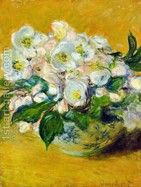 Christmas Roses by Claude Oscar Monet - Reproduction Oil Painting