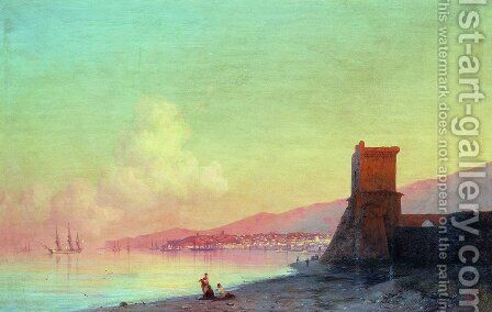 Sunrise in Feodosia by Ivan Konstantinovich Aivazovsky - Reproduction Oil Painting