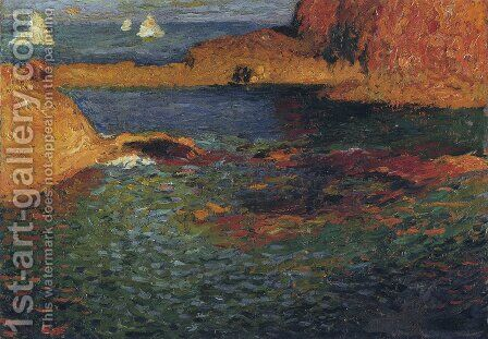 Seaside by Henri Martin - Reproduction Oil Painting