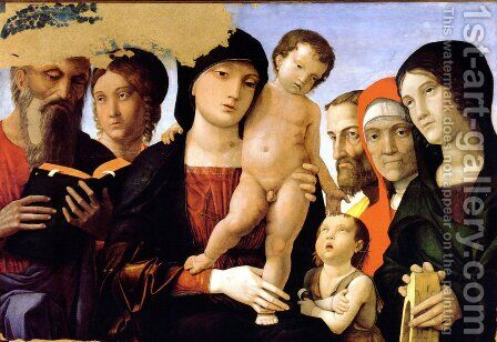 The Holy Family by Andrea Mantegna - Reproduction Oil Painting