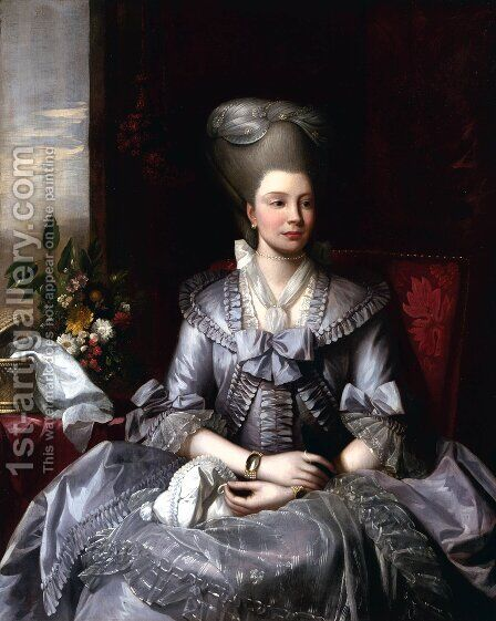 Queen Charlotte 2 by Benjamin West - Reproduction Oil Painting