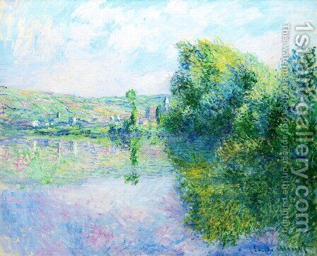 The Siene at Vetheuil by Claude Oscar Monet - Reproduction Oil Painting