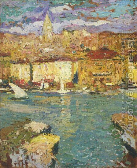 Port of Marseille 2 by Henri Martin - Reproduction Oil Painting