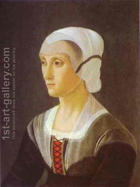 Portrait of Lucrezia Tornabuoni by Domenico Ghirlandaio - Reproduction Oil Painting