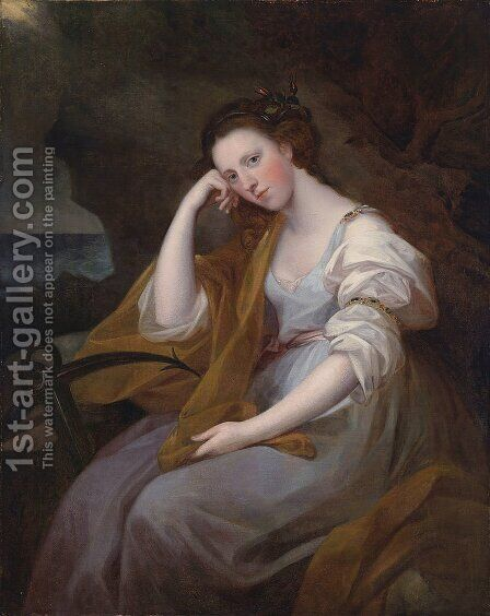 Portrait of Louisa Leveson Gower as Spes (Goddess of Hope) by Angelica Kauffmann - Reproduction Oil Painting