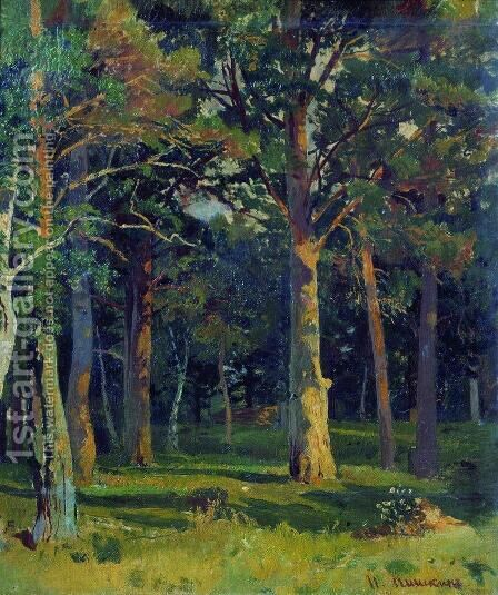 Forest, pine by Ivan Shishkin - Reproduction Oil Painting