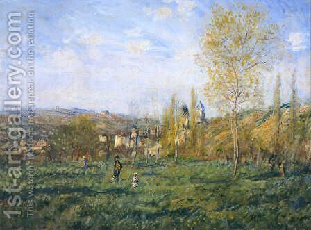 Springtime in Vetheuil by Claude Oscar Monet - Reproduction Oil Painting