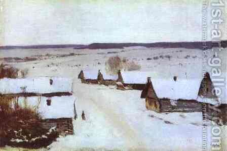 Village in Winter by Isaak Ilyich Levitan - Reproduction Oil Painting