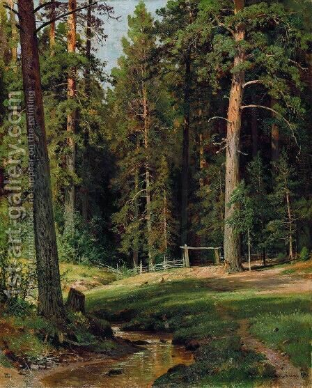 Edge of the Forest 4 by Ivan Shishkin - Reproduction Oil Painting