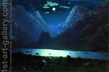 Daryal pass. Moonlight Night by Arkhip Ivanovich Kuindzhi - Reproduction Oil Painting