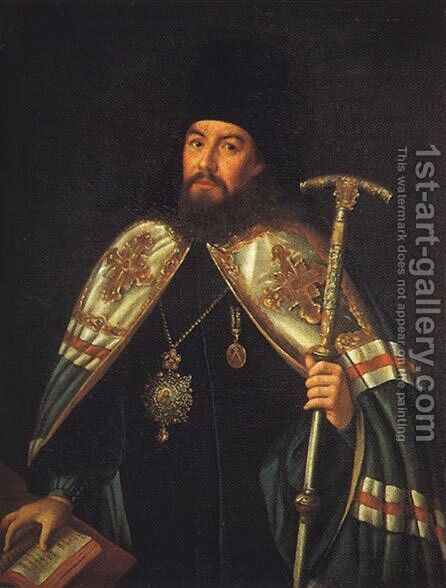 Portrait of archbishop Gavriil Petrov by Aleksei Antropov - Reproduction Oil Painting