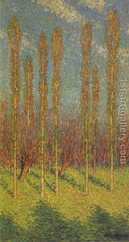 Poplars in Spring by Henri Martin - Reproduction Oil Painting