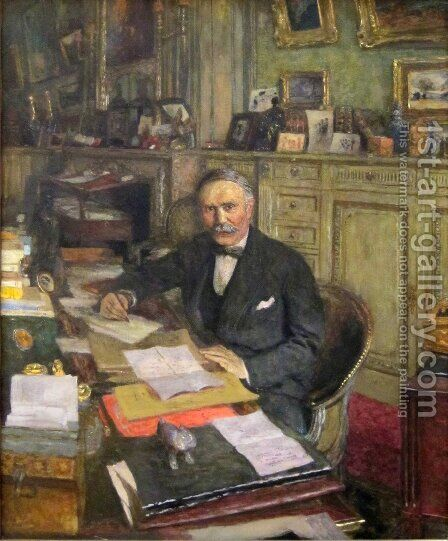 Portrait of Louis Loucheur by Edouard  (Jean-Edouard) Vuillard - Reproduction Oil Painting