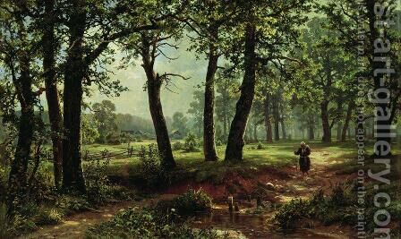 Summer Day by Ivan Shishkin - Reproduction Oil Painting