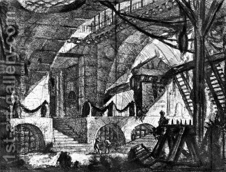 The Prisons by Giovanni Battista Piranesi - Reproduction Oil Painting