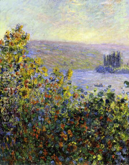 Flowers Beds at Vetheuil by Claude Oscar Monet - Reproduction Oil Painting