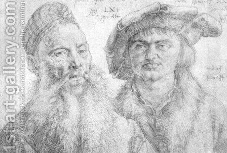 Portrait of Paul Martin and the Topler Pfinzig by Albrecht Durer - Reproduction Oil Painting